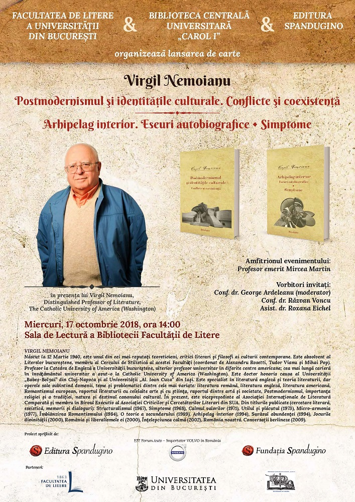 Afis, Virgil Nemoianu.