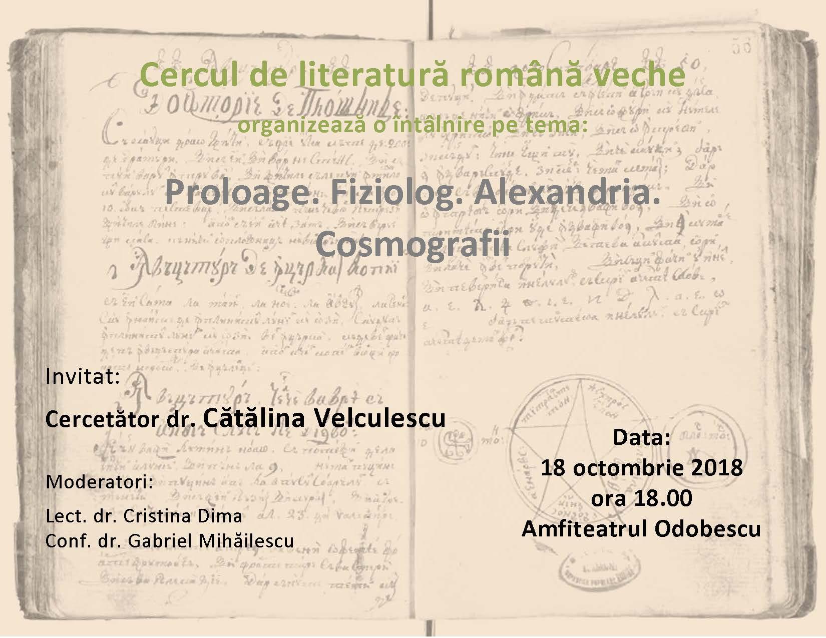 Afis Catalina Velculescu