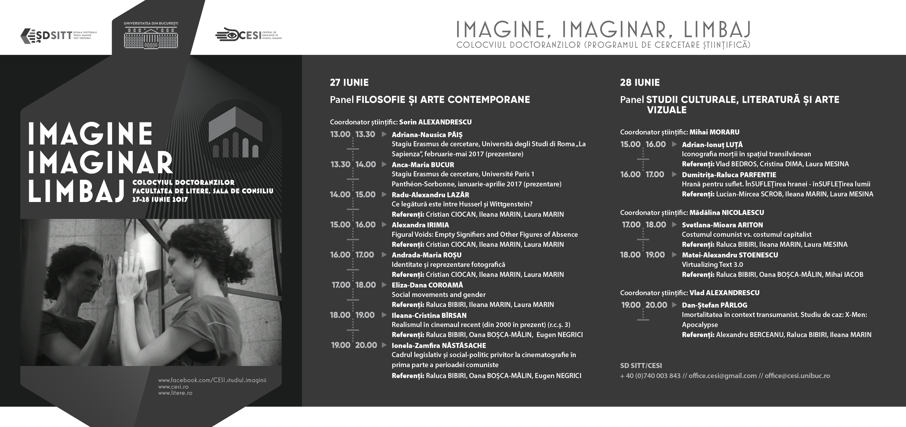 Program IMAGINE, IMAGINAR, LIMBAJ, 27-28 iunie