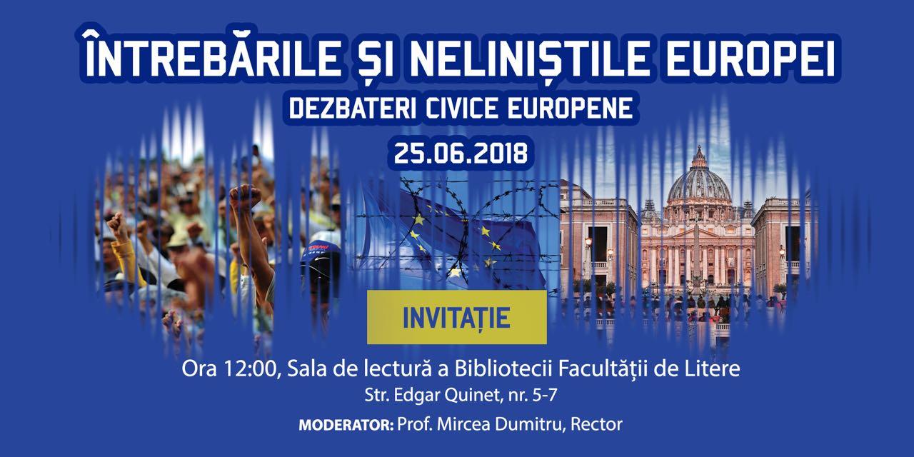 Invitatie UB- Intrebarile si nelinistile Europei