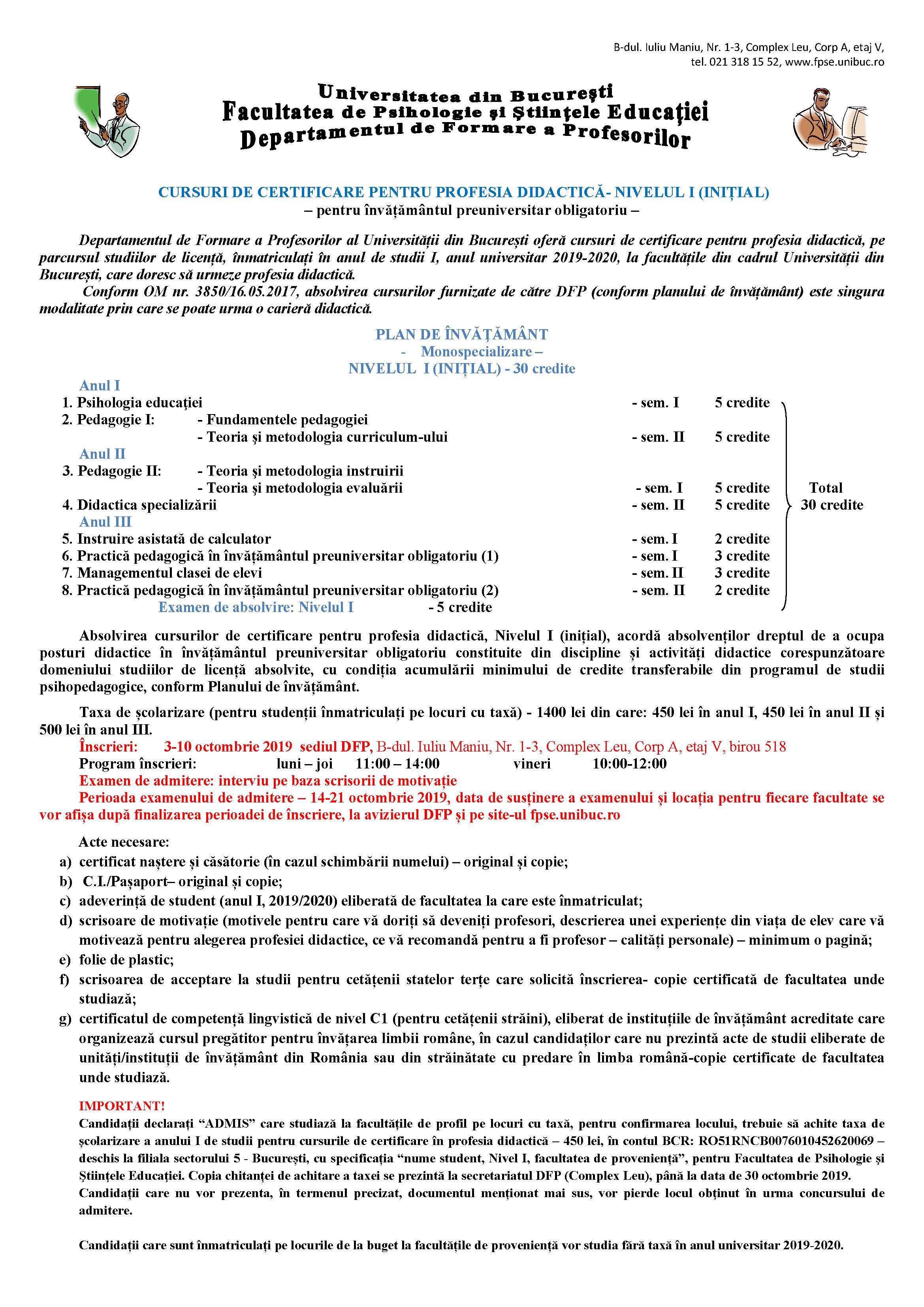 Anunt inscrieri NIVEL I pe perioada licentei 2019_Page_1