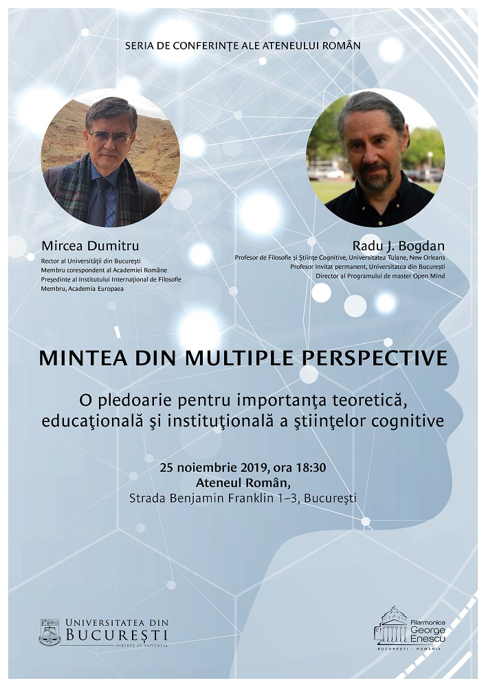 Afis eveniment UB Ateneu 25 noiembrie 2019