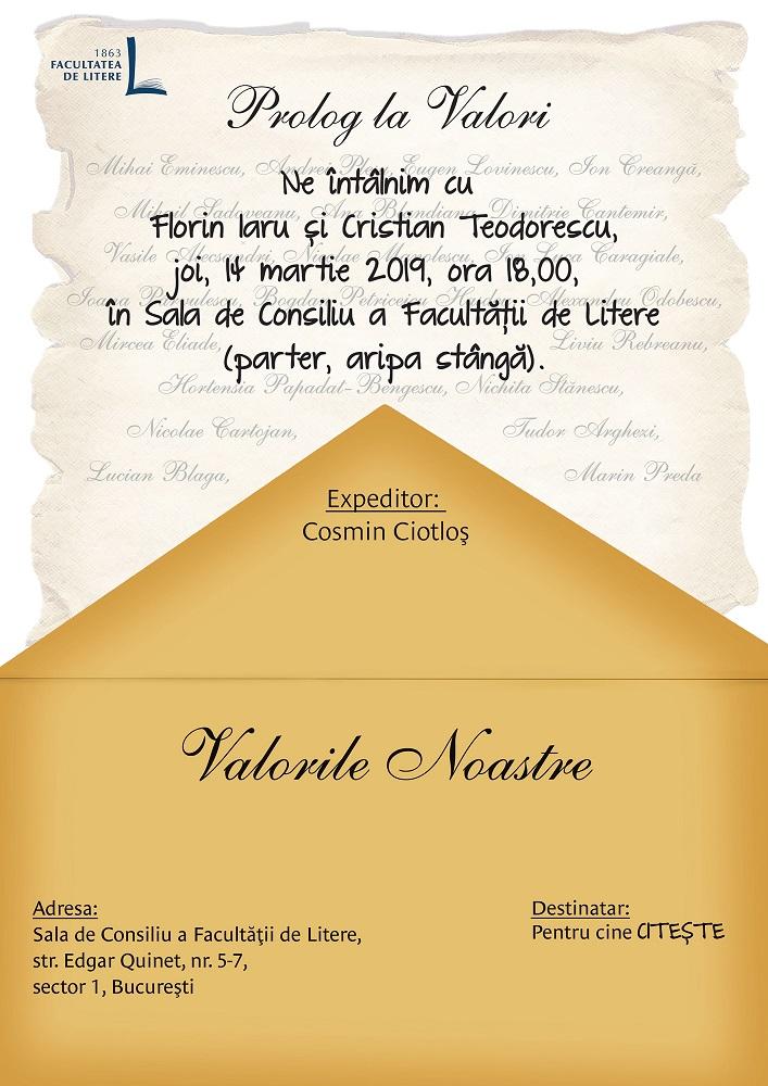 Întâlnire cu Florin Iaru și Cristian Teodorescu